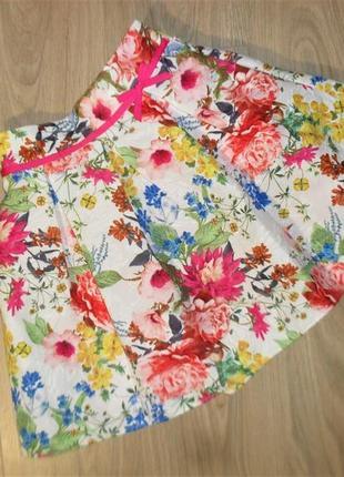 Плотная нарядная юбка на 11-12лет