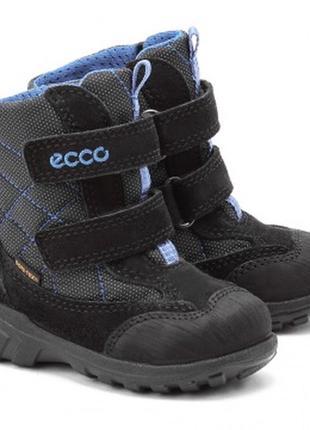 Ecco kids gore-tex track uno ботинки детские зимние сапожки чоботи сапоги размер 20