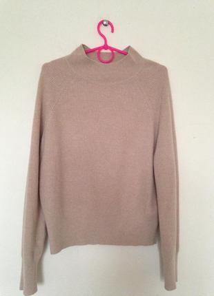 Кашемир премиум свитер,цвет пудра h&m