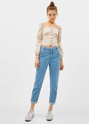 Новые!!крутые джинсы мом,bershka