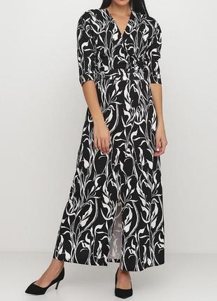 Дизайнерское платье халат на запах andre tan. с шерстью