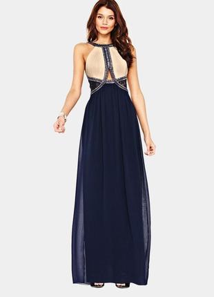 Нарядное, выпускное, вечернее длинное платье бисер, пайетки от little mistress