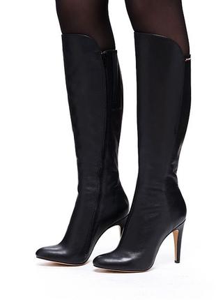 Сапоги кожаные  чоботи шкіряні modus vivendi высокий каблук