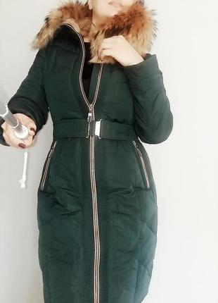 Зимнее пальто daser изумрудного цвета 12-14/48-50 размер