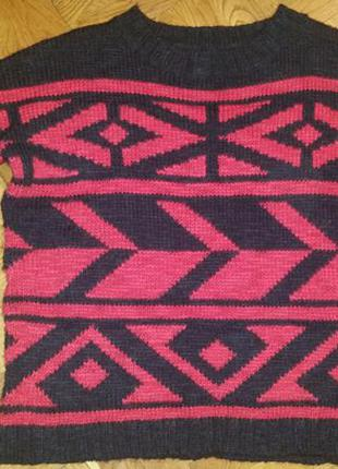 Шерстяной свитер оверсайз