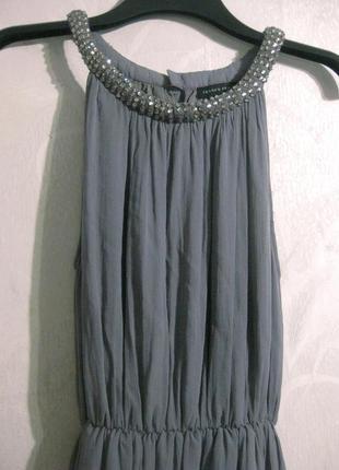 Платье сарафан second female миди серый камни стразы