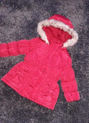 Куртка зимняя на девочку 9-12м.