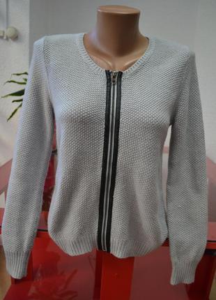 Вязаная кофта свитер  на замке sisters point