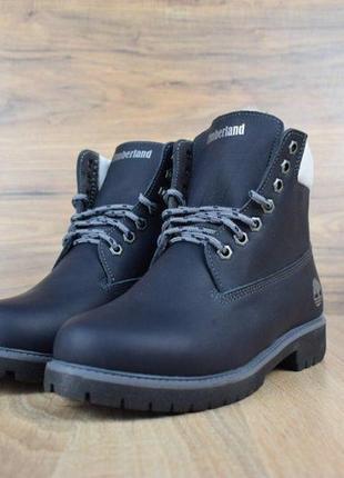 Шикарные зимние женские ботинки/ сапоги/ угги timberland blue fur 😍 {с мехом}