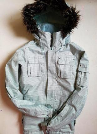 The north face   лыжная термо горнолыжная куртка лижна гірськолижна в клетку