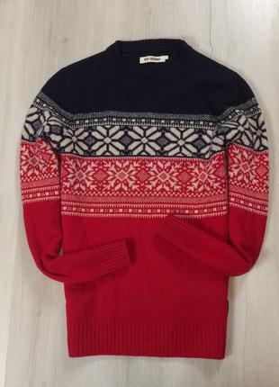 Шерстяной свитер ben sherman пуловер с узорами кофта мужская