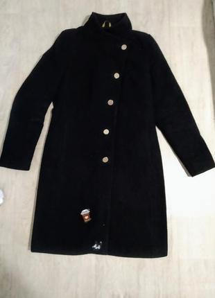 Классическое зимнее драповое пальто
