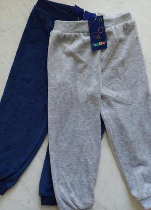 Велюровые штанишки 86/92 комплект 2 шт lupilu/германия