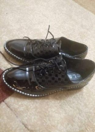 Туфли ботинки оксфорди новые р. 37