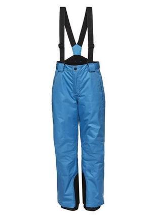 Лыжные брюки теплые штаны для лыжного спорта синие
