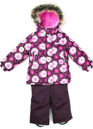 Комплект зимний для девочки lenne {куртка + полукомбинезон}
