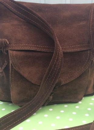 Натуральная замшевая сумочка