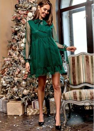 Праздничное платье свободного кроя + серьги в подарок