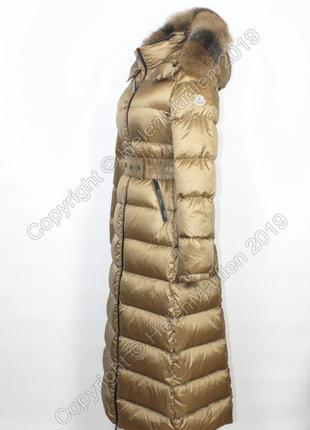 Пуховик пальто парка куртка moncler с натуральным мехом монклер