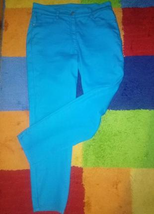 Стрейчевые,цвета морской волны ,летние и весенние  джинсы приятные к телу