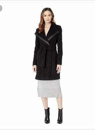 Новое чёрное пальто из шерсти, оригинал calvin klein, размер 36.
