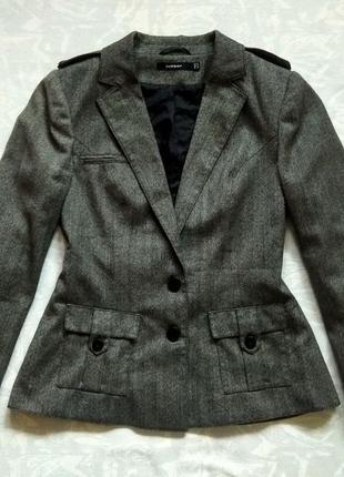 Шерстяной пиджак, теплый пиджак, теплий жакет, шерстяний жакет базовий