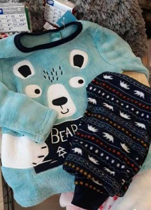 Тёплая флис пижама для мальчика (можно и девочке) 92/98  122/128 р pepco