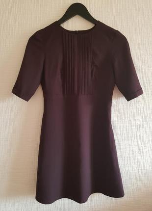 Платье черничного цвета с карманами musthave