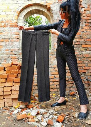 Брюки штаны с вискозой стрелкой в ёлочку b. young средняя посадка прямые