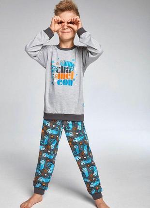 Cornett пижама для мальчиков подростков с хамелеоном (меланжевый/бирюзовый/серый)