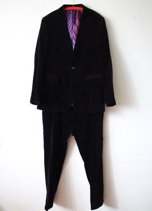 Мужской бархатный костюм etro фиолетовый