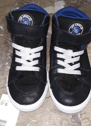 Хайтопы сникерсы ботинки кроссовки h&m 34р