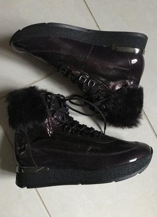 Ботинки кожаные сникерсы зимние стильные hogl размер 41