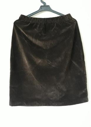 Велюровая юбка-карандаш selene