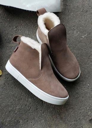 Хит этого года! высокие слипоны кеды ботинки из натуральной замши (сезон на выбор!)