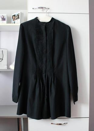 Красивая черная удлиненная рубашка от united colors of benetton
