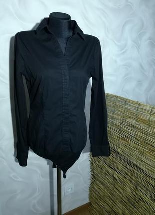 Чёрная рубашка боди