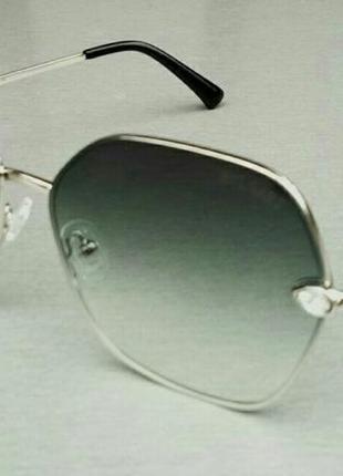 Bvlgari очки женские солнцезащитные серые с градиентом