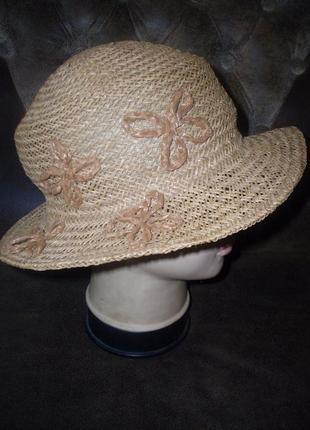 Шляпка 100% натуральная соломка италия 54-56 размер