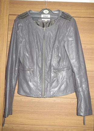 Красивейшая женская куртка экокожа only, м