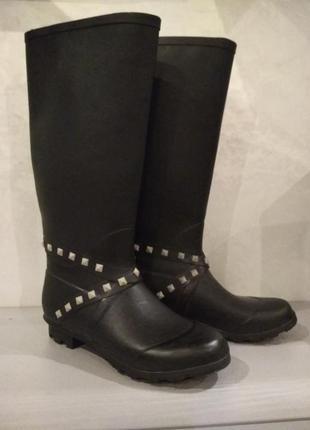 Фирменные черные резиновые сапоги george