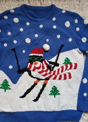 Шикарный новогодний свитер cedarwood state! размер - l