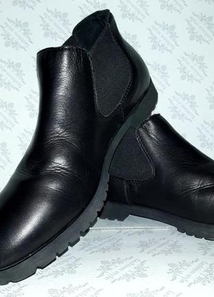 Ботинки челси кожаные италия