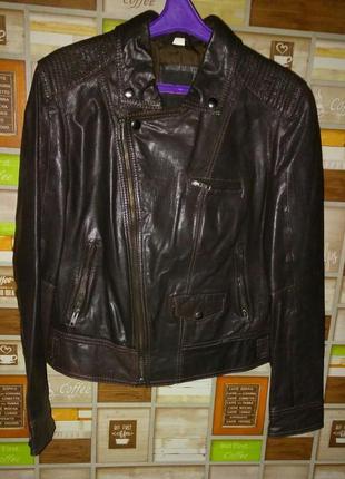 Стильная кожаная куртка фирмы н.i.s