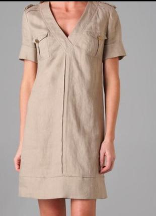 Tory burch, фирменное льняное платье