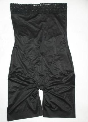 Высокие компрессионные трусики трусы корсет панталоны черные 38 40 42 44 s m l