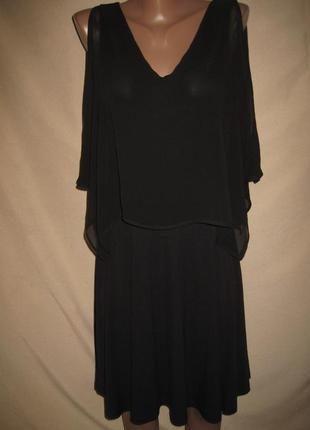 Платье с шифоновой пелериной warehouse р-р8