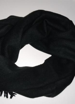 Кашемировый шарф тёмно-зелёный cashmere