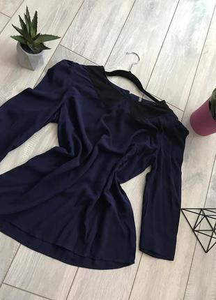 Красивая блуза рубашка с воротником