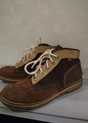 Замшевые туфли ботинки kickers